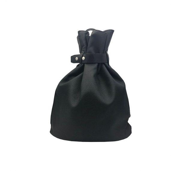 Women Black Backpack Front
