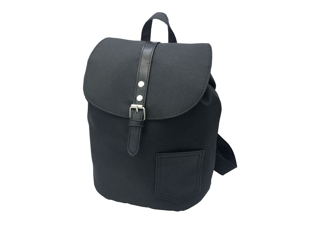 Mini Black Backpack with Soft Material R side