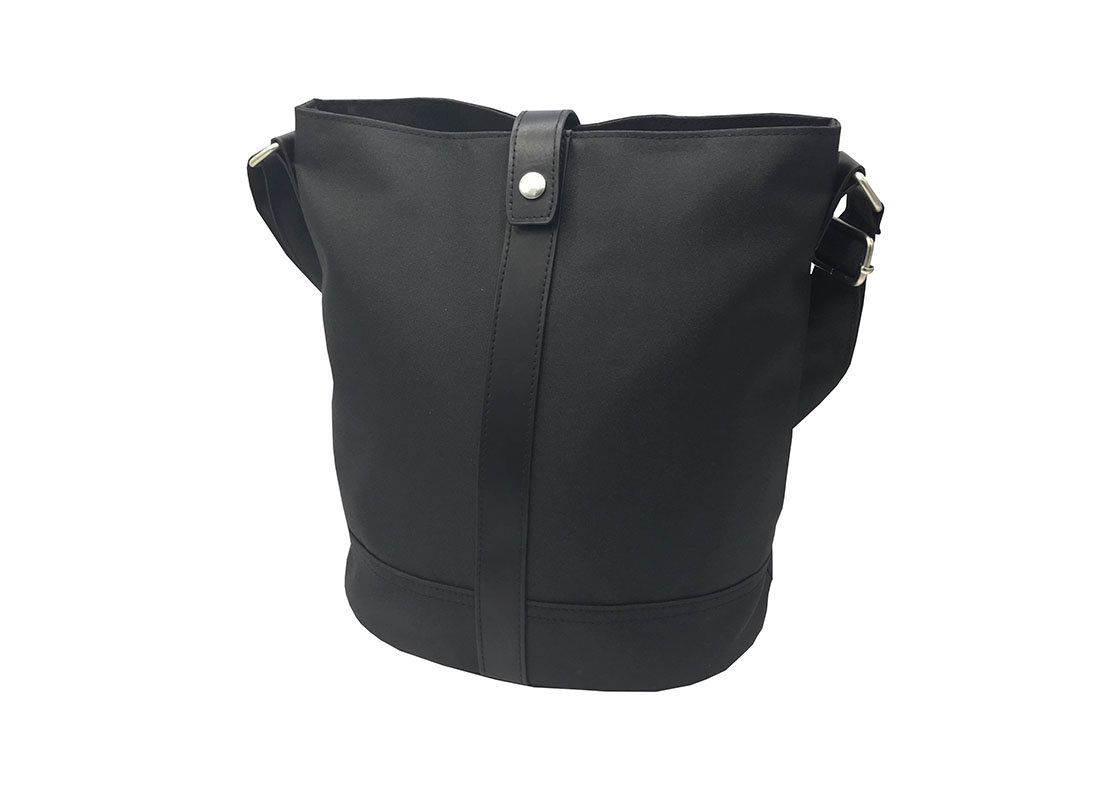 Mini Bucket Bag in Black R side
