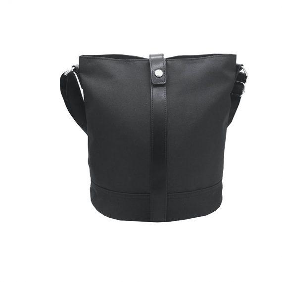 Mini Bucket Bag in Black Front