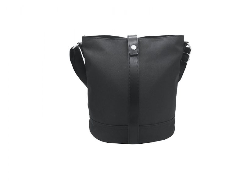 Mini Bucket Bag in Black Front