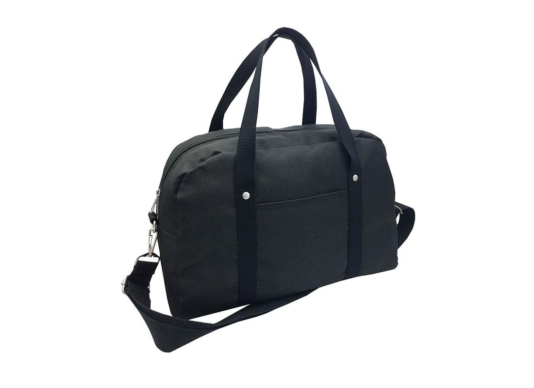Retro Tote Bag Boston Bag in Black L side