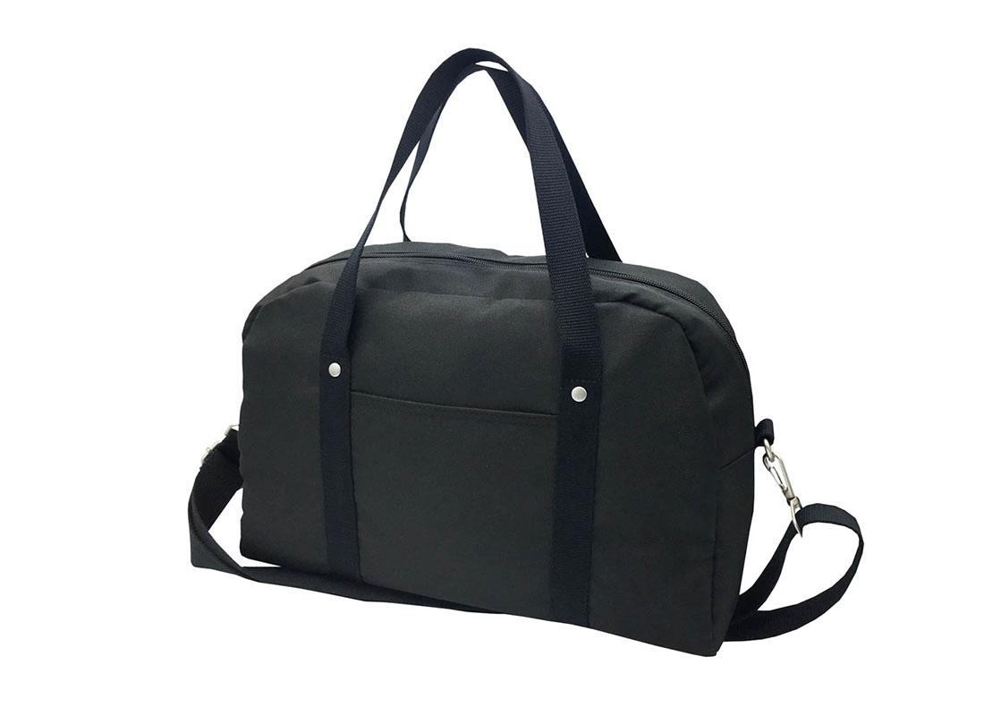 Retro Tote Bag boston bag in black R side