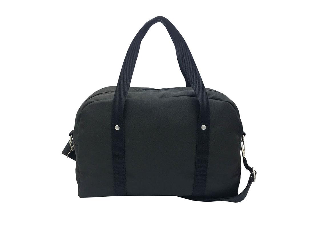 Retro Tote bag boston bag in black back