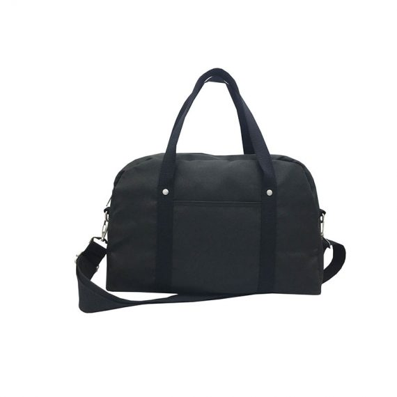 Retro Tote Bag Boston Bag in Black Front