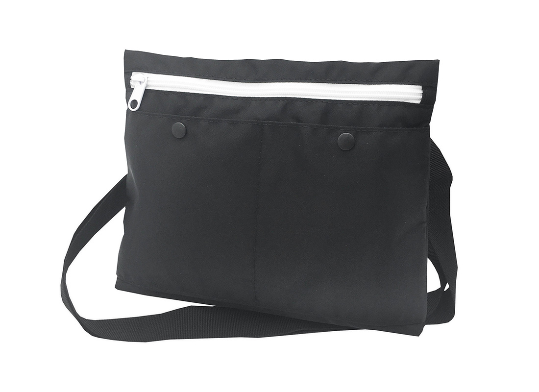 simple black shoulder bag R side