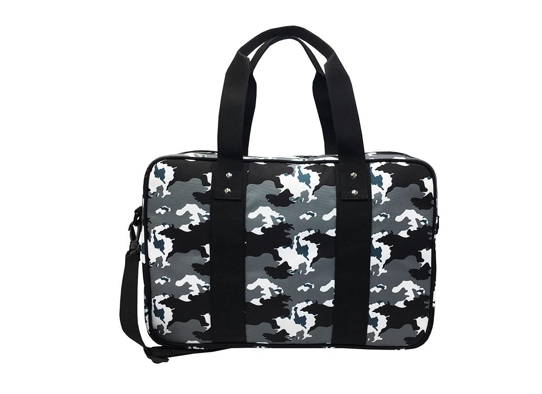 Camo Weekender Bag in Black White Grey Back