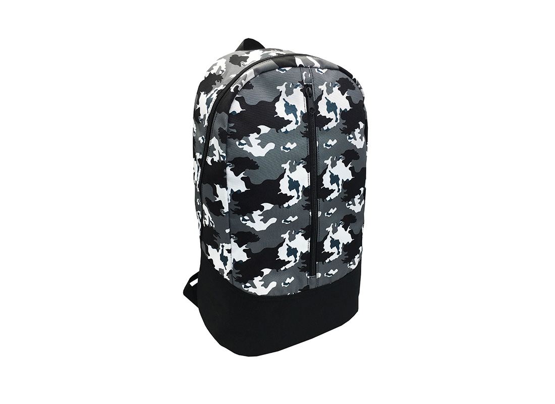 camo backpack L side