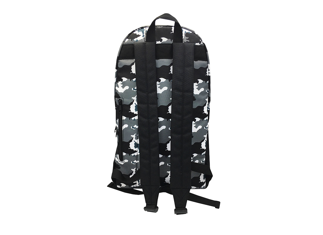 camo backpack back