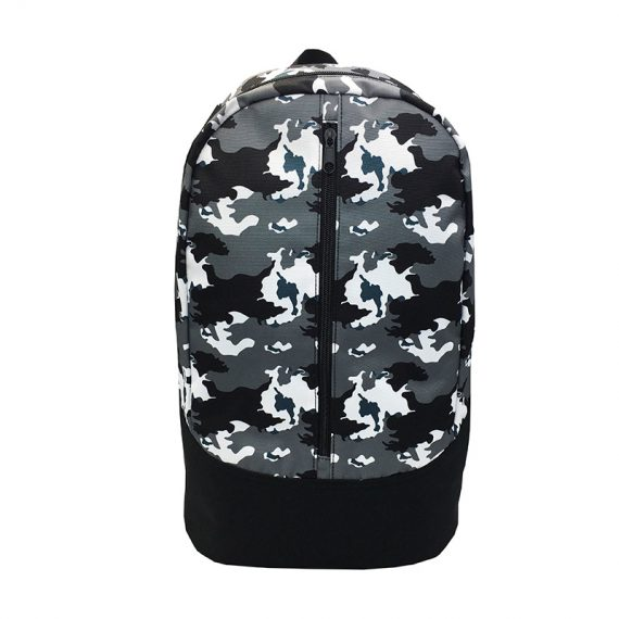 camo backpack front