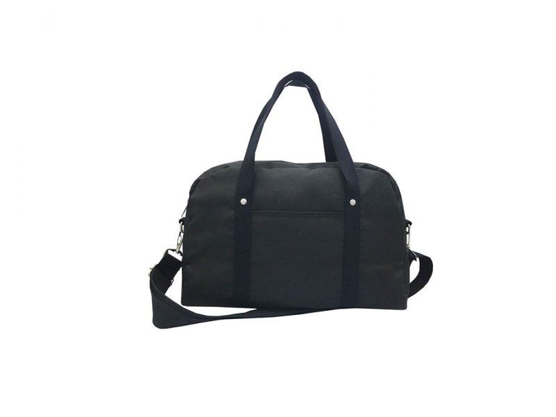Retro Tote Bag Boston Bag in Black Front