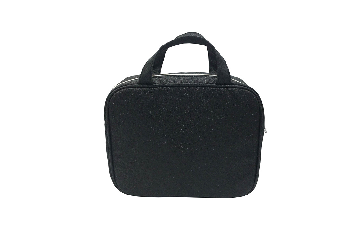Makeup Bag Pack with 3pcs PVC pouch inside front