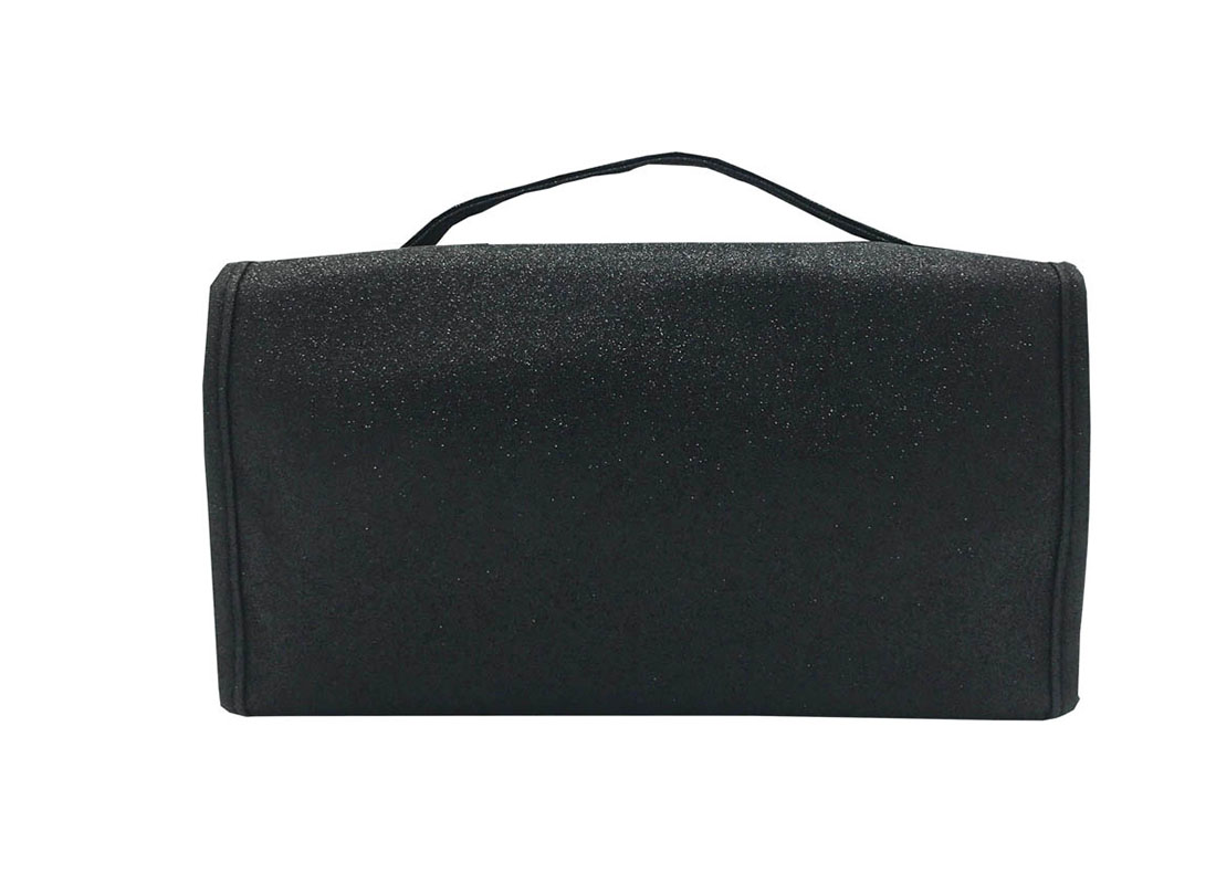 Rollup Makeup Bag in Black Back