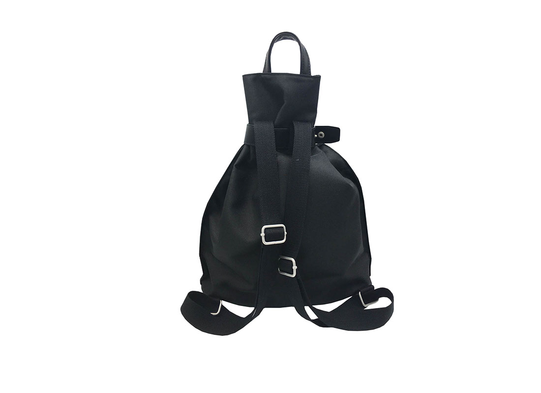 women black backpack back