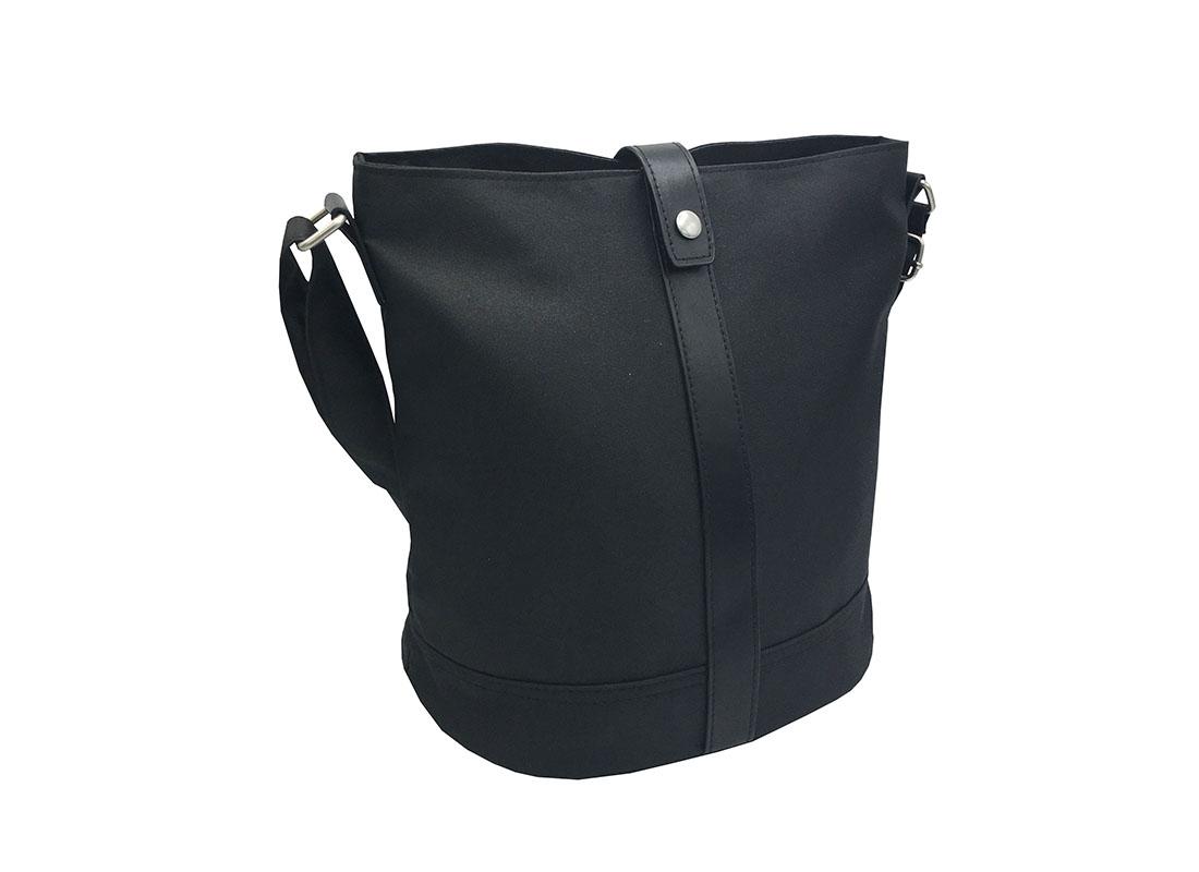 Mini Bucket Bag in Black L side