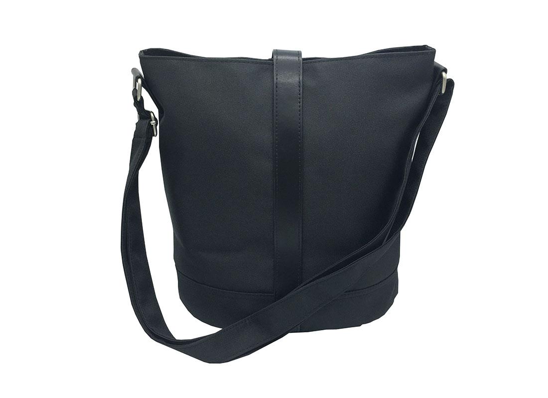 Mini Bucket Bag in Black Back