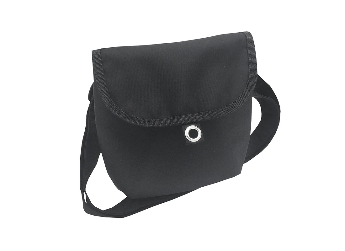 Mini cross body bag in Black L side