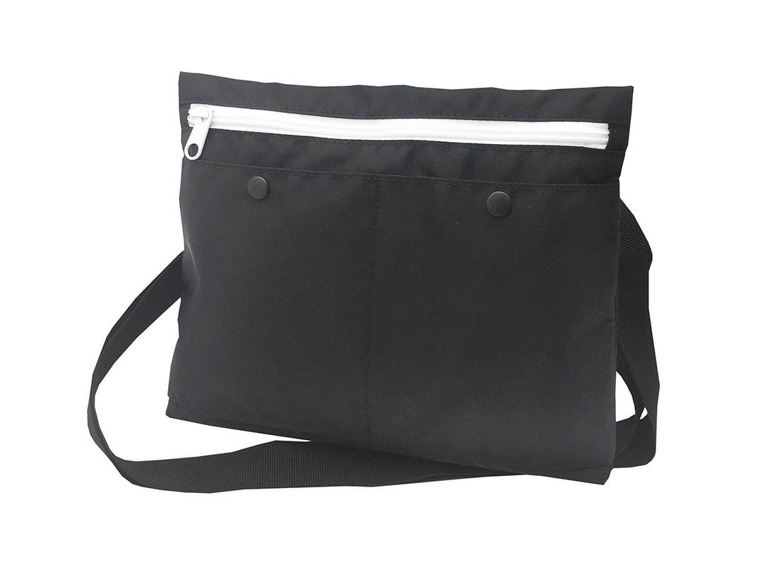 simple black shoulder bag R side