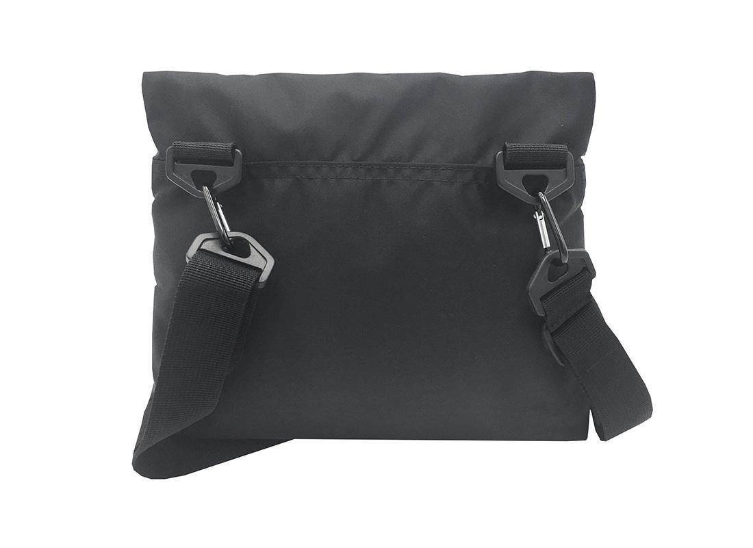 simple black shoulder bag back