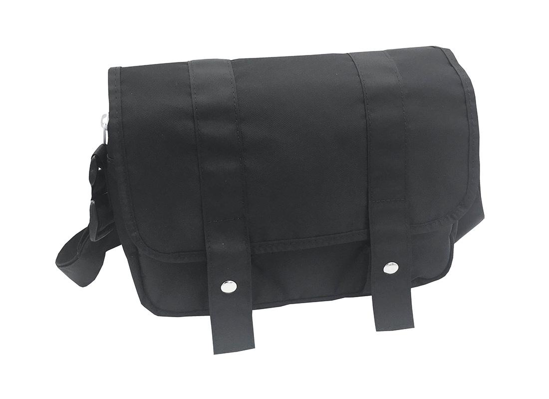 MIni Messenger Bag in Black L side