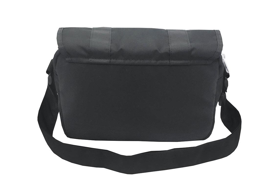 MIni Messenger Bag in Black back