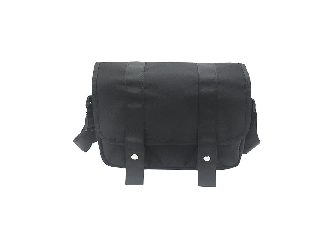 MIni Messenger Bag in Black Front