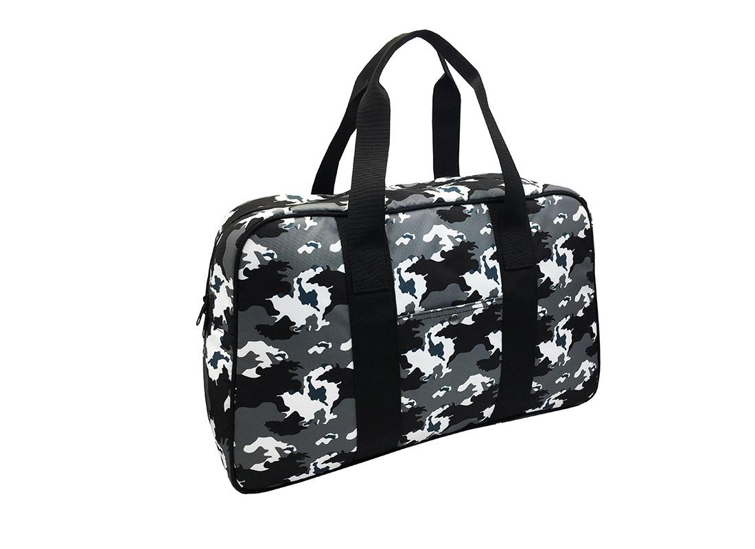 Camo duffel Bag weekender bag L side