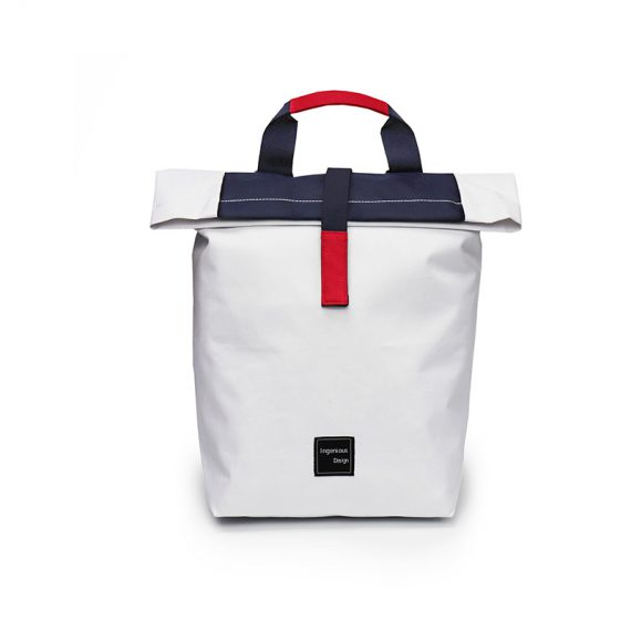 simple backpack - 20004 - white blue front
