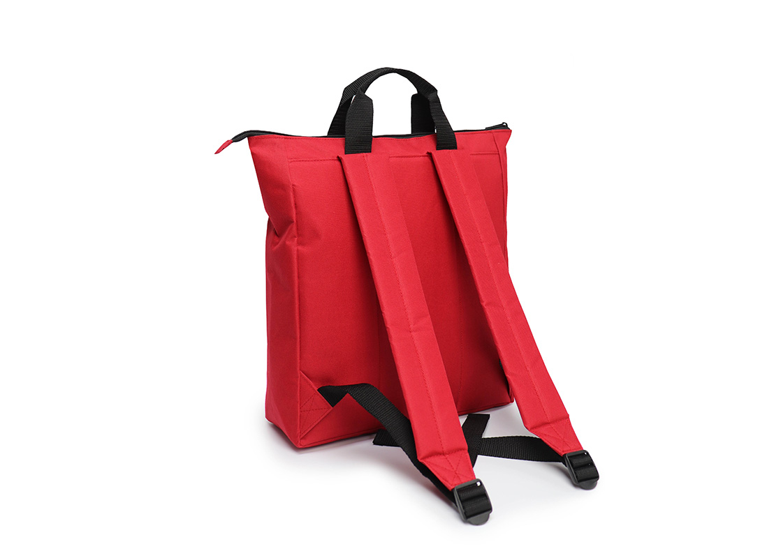 simple backpack - 20005 - Red L back