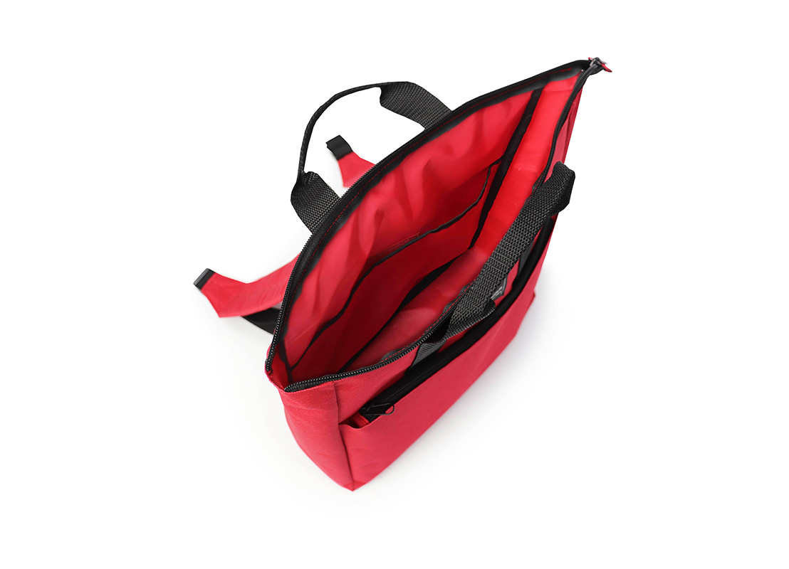 simple backpack - 20005 - red open