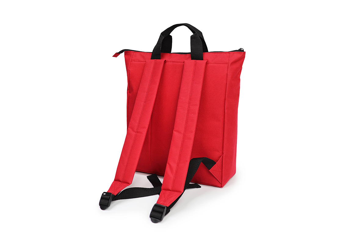 simple backpack - 20005 - red R back