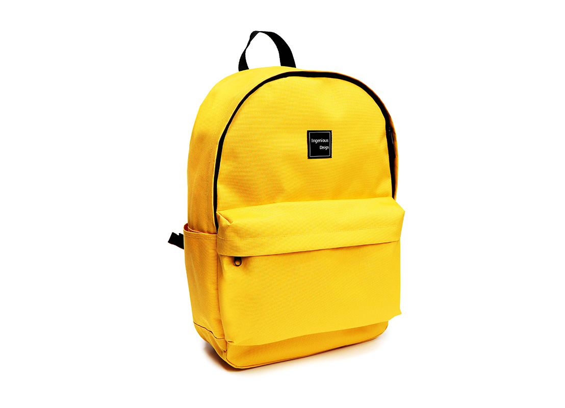 simple backpack - 20006 - yellow L side