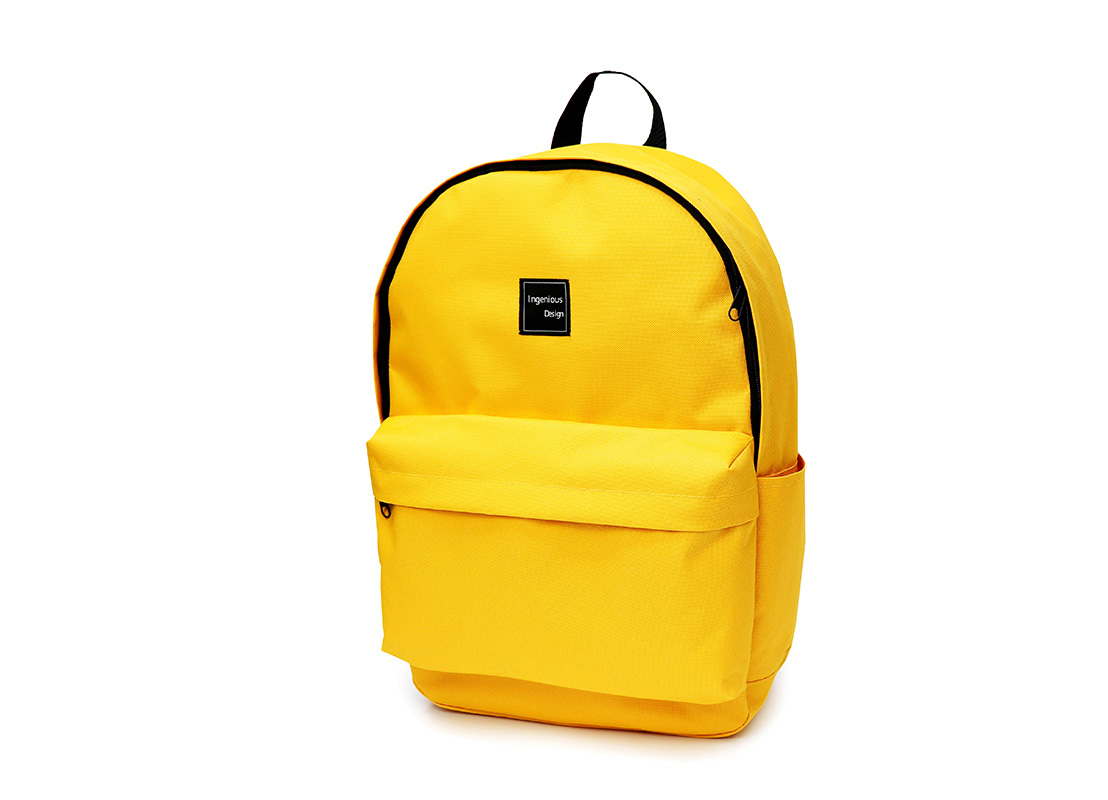 simple backpack - 20006 - yellow R side