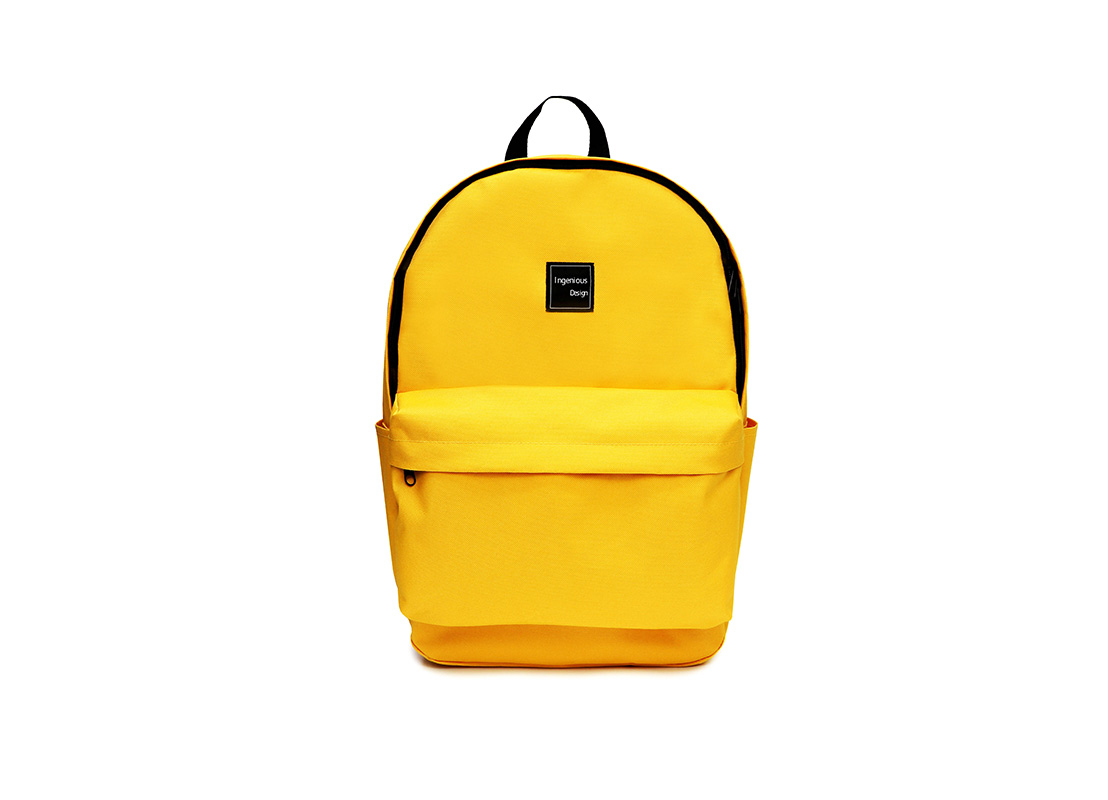 simple backpack - 20006 - yellow front