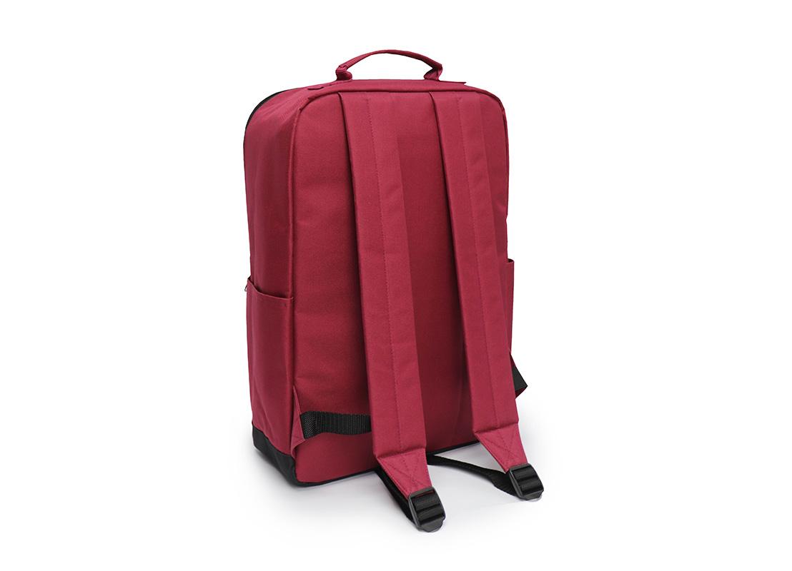 simple backpack - 20007 - dark red L back