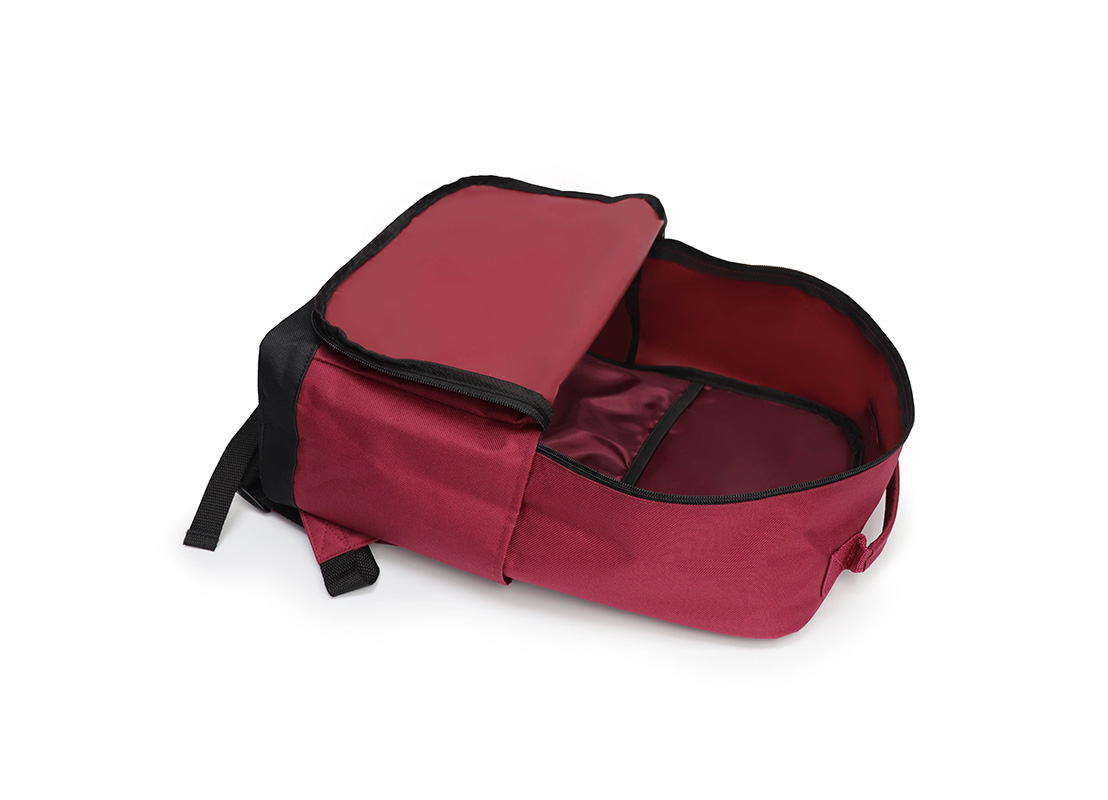 simple backpack - 20007 - dark red open