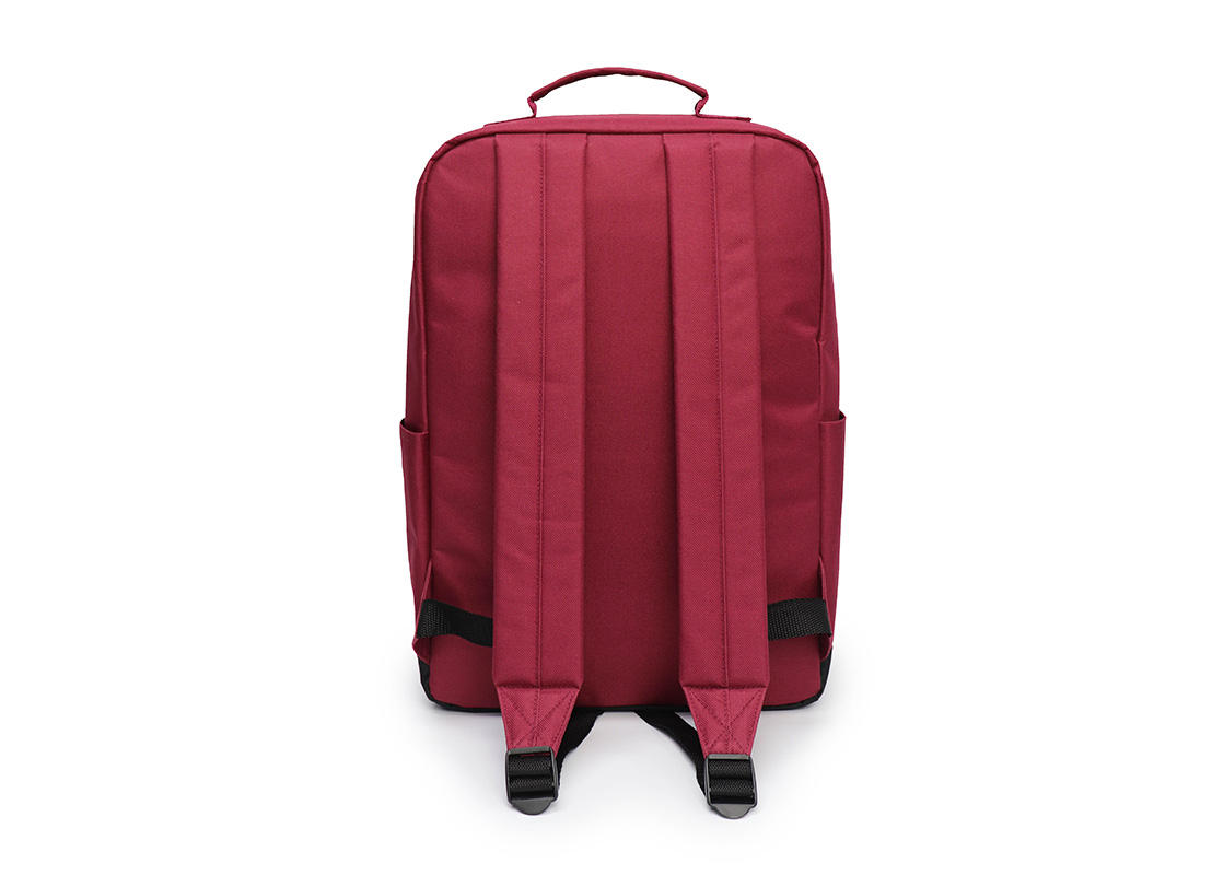 simple backpack - 20007 - dark red back