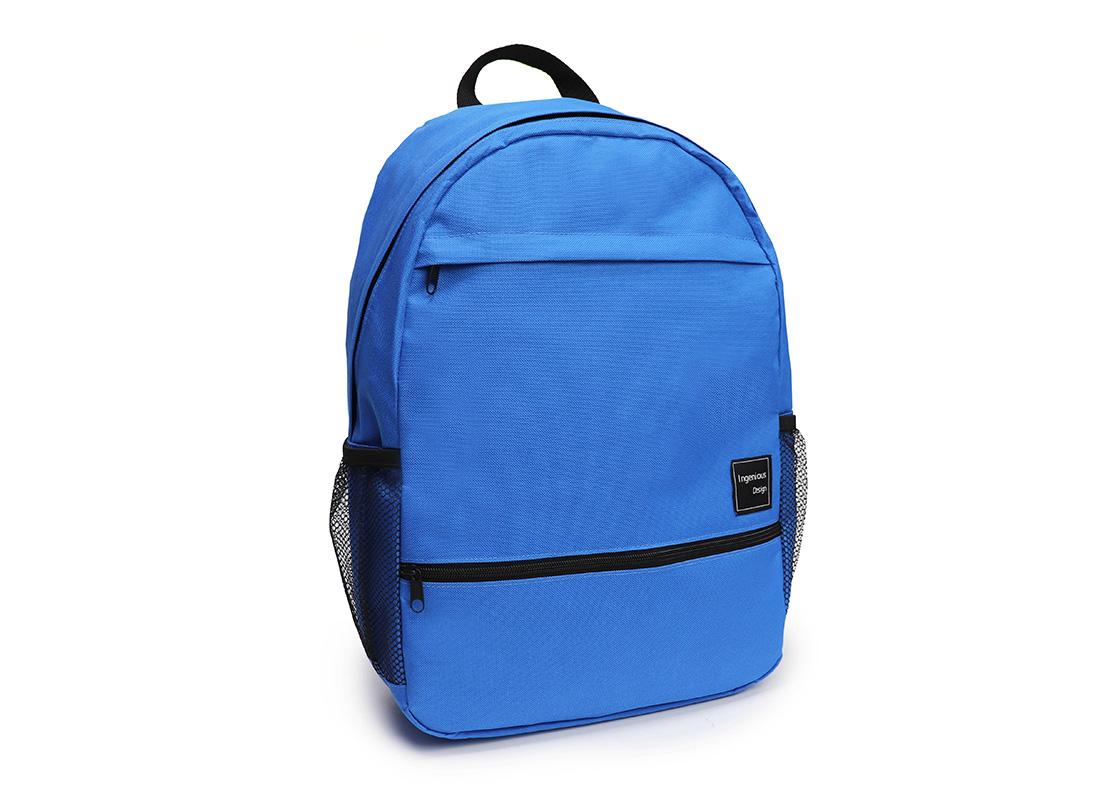 simple backpack - 20008 - blue L side