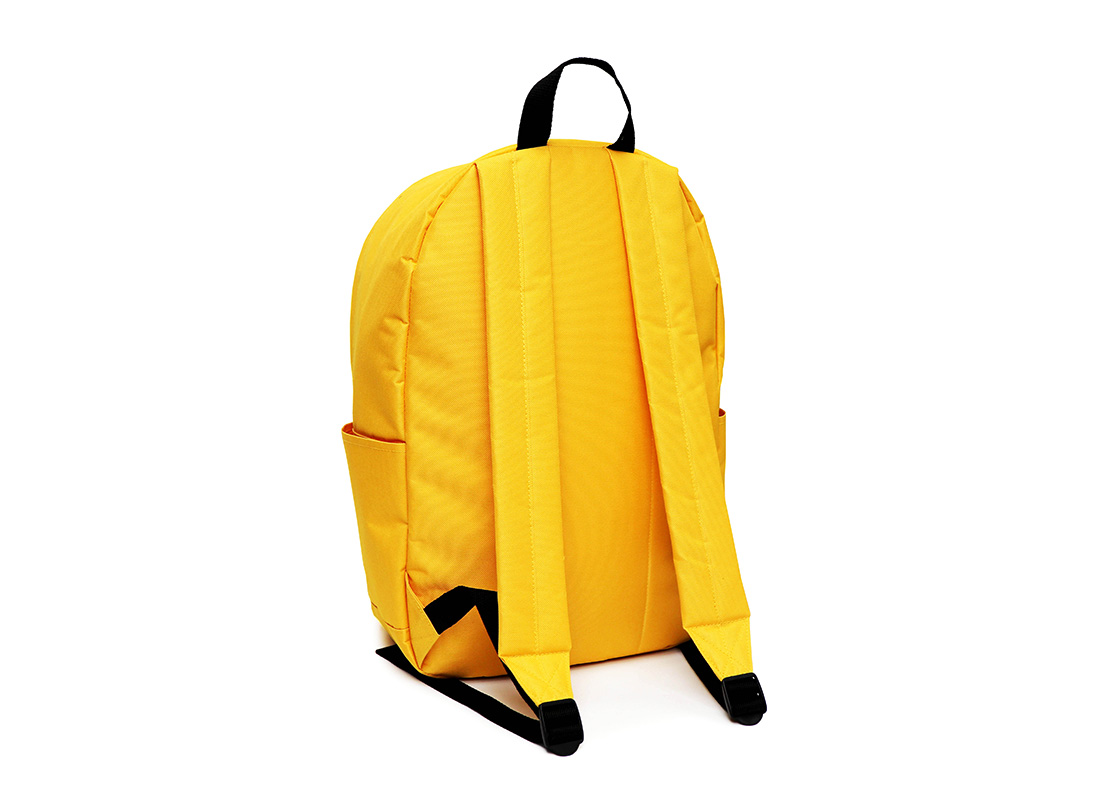 simple backpack - 20006 - yellow L back