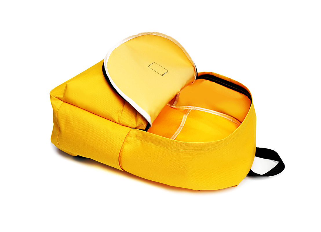 Simple backpack - 20006 - yellow open