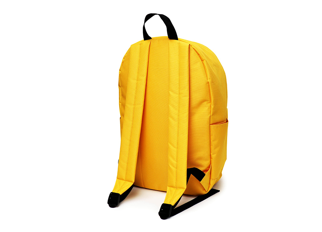 simple backpack - 20006 - yellow R back
