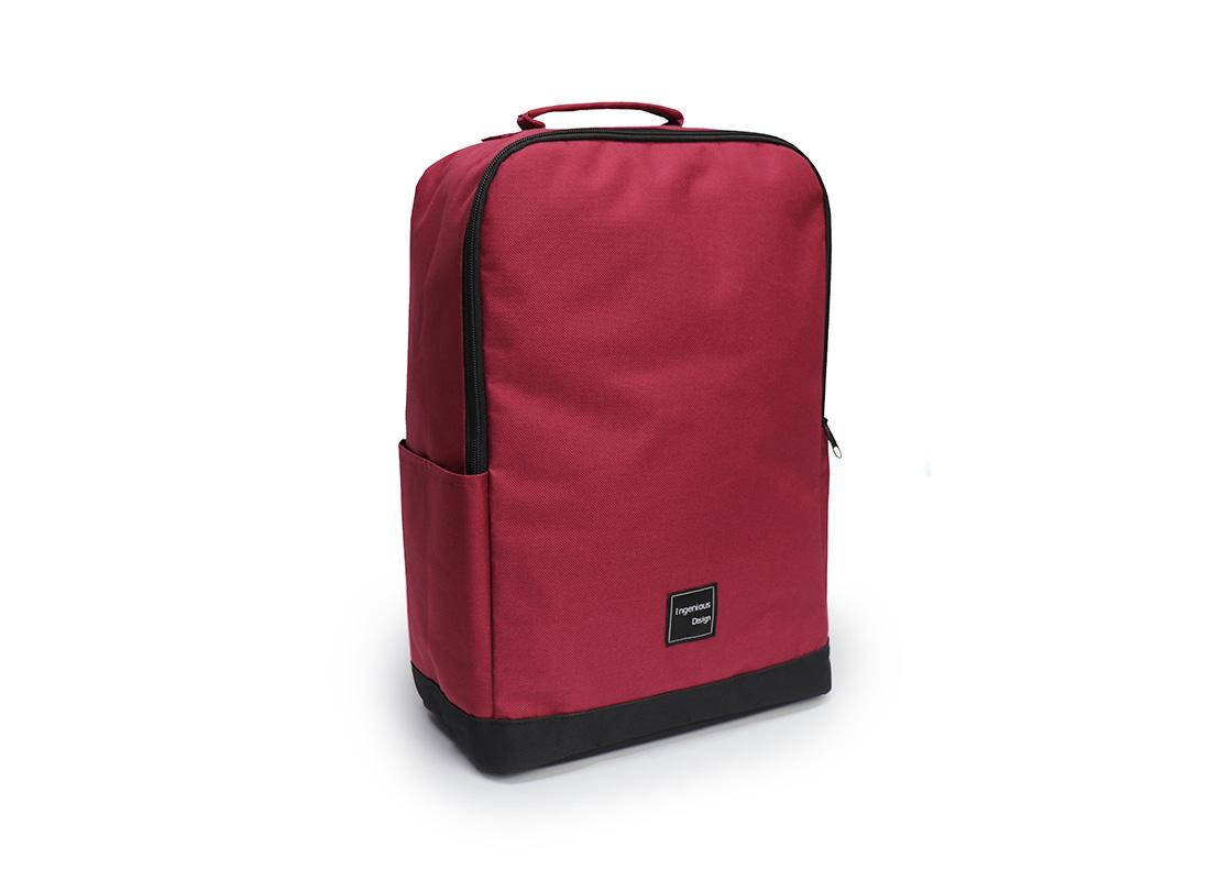 simple backpack - 20007 - Dark Red L Side