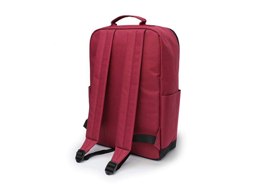 simple backpack - 20007 - dark red R back