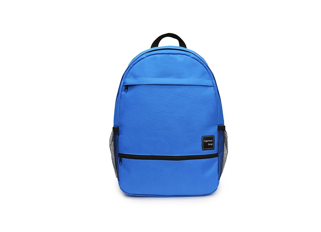 simple backpack - 20008 - blue front