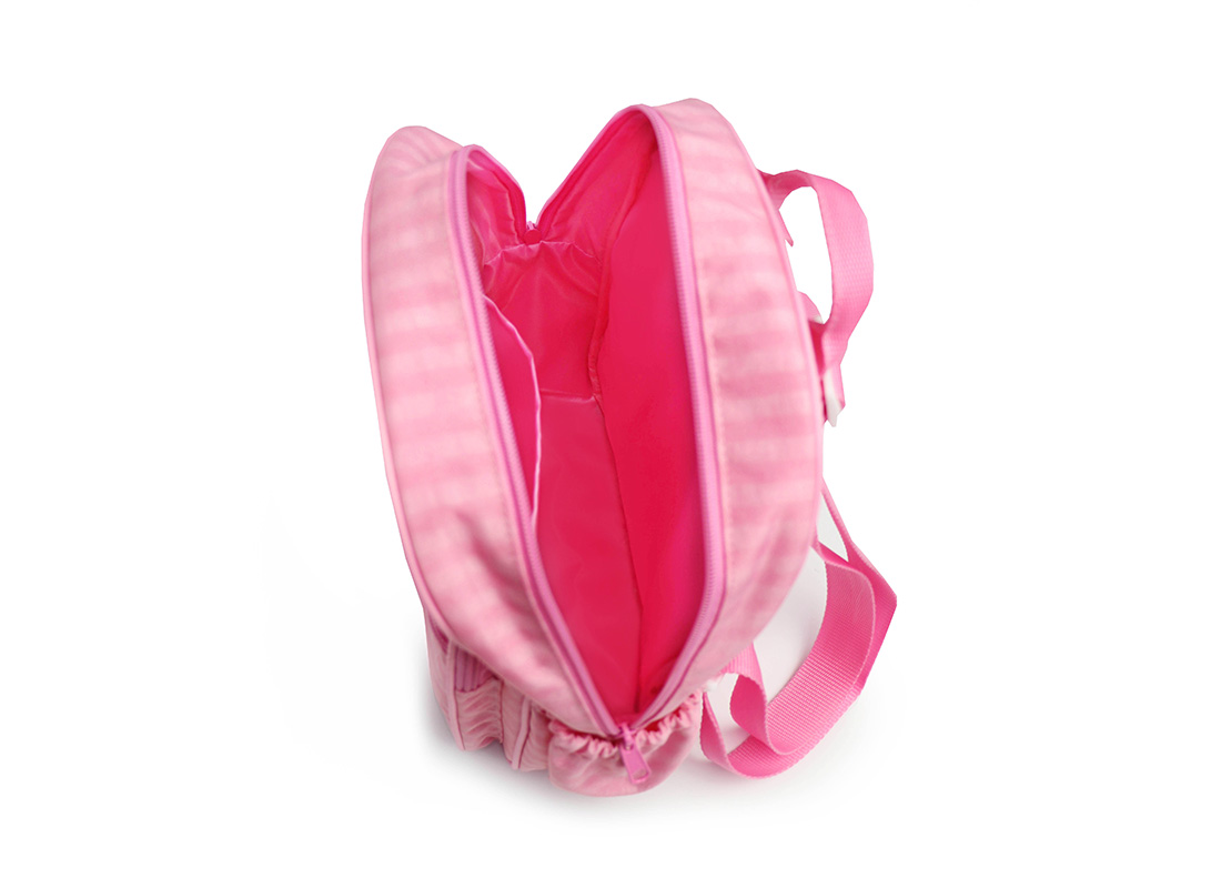 Pastel Pink Backpack - 20001 - pink Open