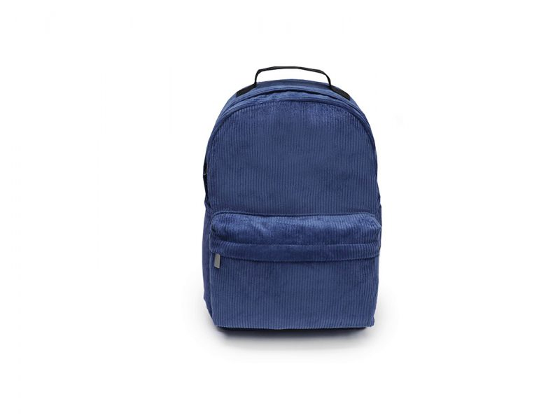 Corduroy small backpack - 21016 - blue Front